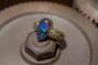 Gelb.- Weissgold 750 mit Boulder-Opal